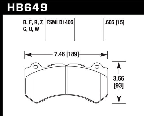 Hawk Performance HPS 5.0 FRONT Brake Pads for 6 Piston