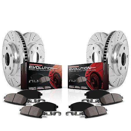 Challenger / Charger Power Stop Z23 Evolution Sport Brake Rotor and Pad Kit; Front and Rear (2008-2020)