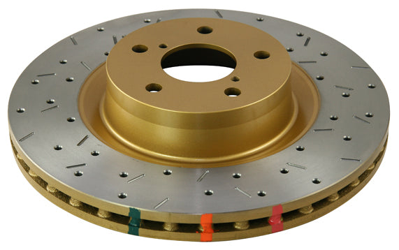 DBA's 4000 Series XS Front Rotor - Cross Drilled/Slotted Uni-Directional Rotor - Challenger/Charger/300SRT - DBA42444XS