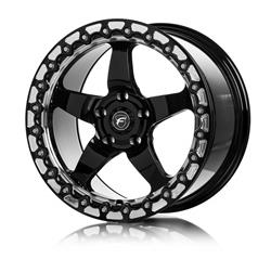 Forgestar D5 Drag Beadlock Gloss Black Machined Wheels