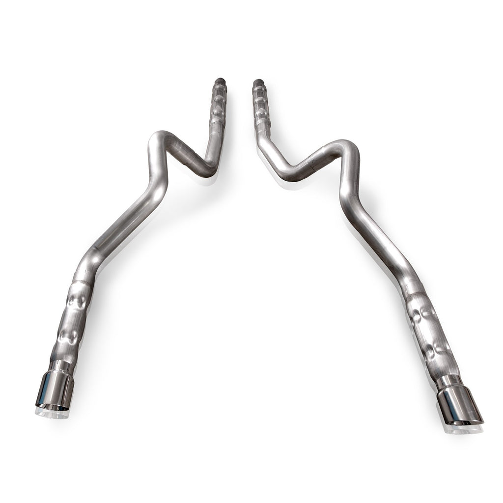 "Stainless Works Mustang GT/ Shelby GT500 2011-14 Exhaust: 3"" Performance Connect Dual Catback Retro Chambered"