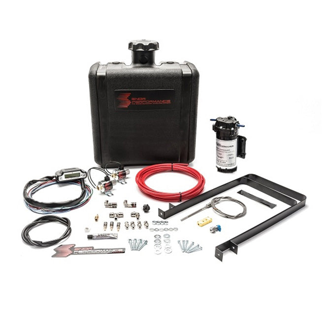 NX Diesel Stage 3 Boost Cooler Water-Methanol Injection Kit Ford 7.3/6.0/6.4/6.7 Powerstroke (Red High Temp Nylon Tubing, Quick-Connect Fittings) - SNO-520