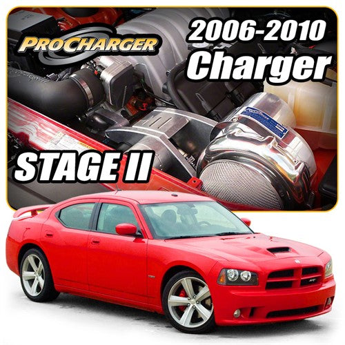 ProCharger 2006 - 2010 Dodge Charger 6.1L HEMI Stage II Supercharger Tuner Kit