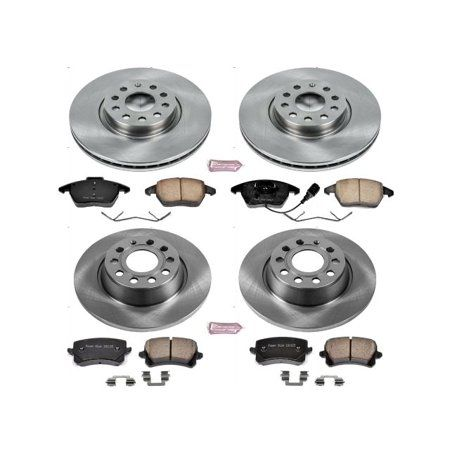 Power Stop OE Replacement Brake Rotor and Pad Kit; Front and Rear for 2015-2020 Mustang