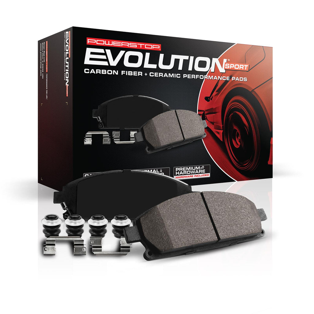 Power Stop Trackhawk Z23 Evolution Front& Rear Carbon-Fiber Ceramic Brake Pads