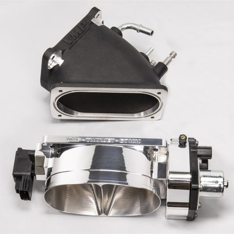 VMP HIGH FLOW ELBOW & VMP TWIN JET 67MM THROTTLE BODY. GT500/5.0 BOLT ON UP TO 40 RWHP!