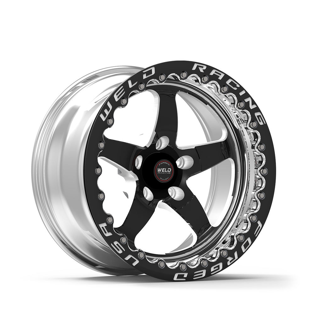 Widebody Challenger Weld Racing RT-S S71 17x10 / 5x115mm BP / 5.2in. BS Black Drag Wheel (High Pad) - Black Single Beadlock