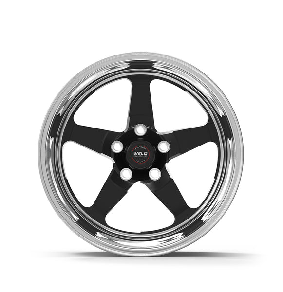 Widebody Challenger Weld Racing RT-S S71 18x10.5 / 5x115mm BP / 5.6in. BS Black Drag Wheel (High Pad) - Non-Beadlock