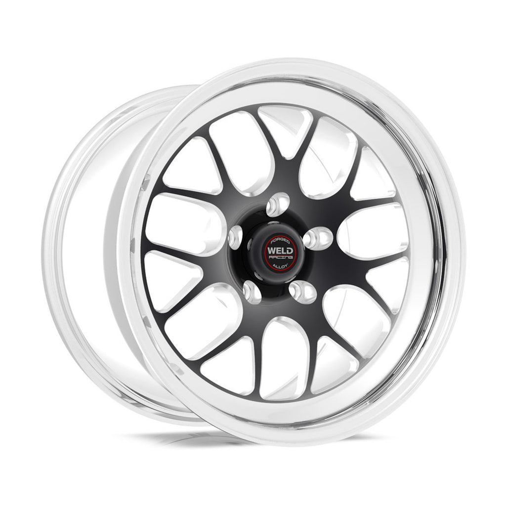 Widebody Challenger Weld Racing RT-S S77 17x10.5 / 5x115mm BP / 5.7in. BS Black Drag Wheel (High Pad) - Non-Beadlock