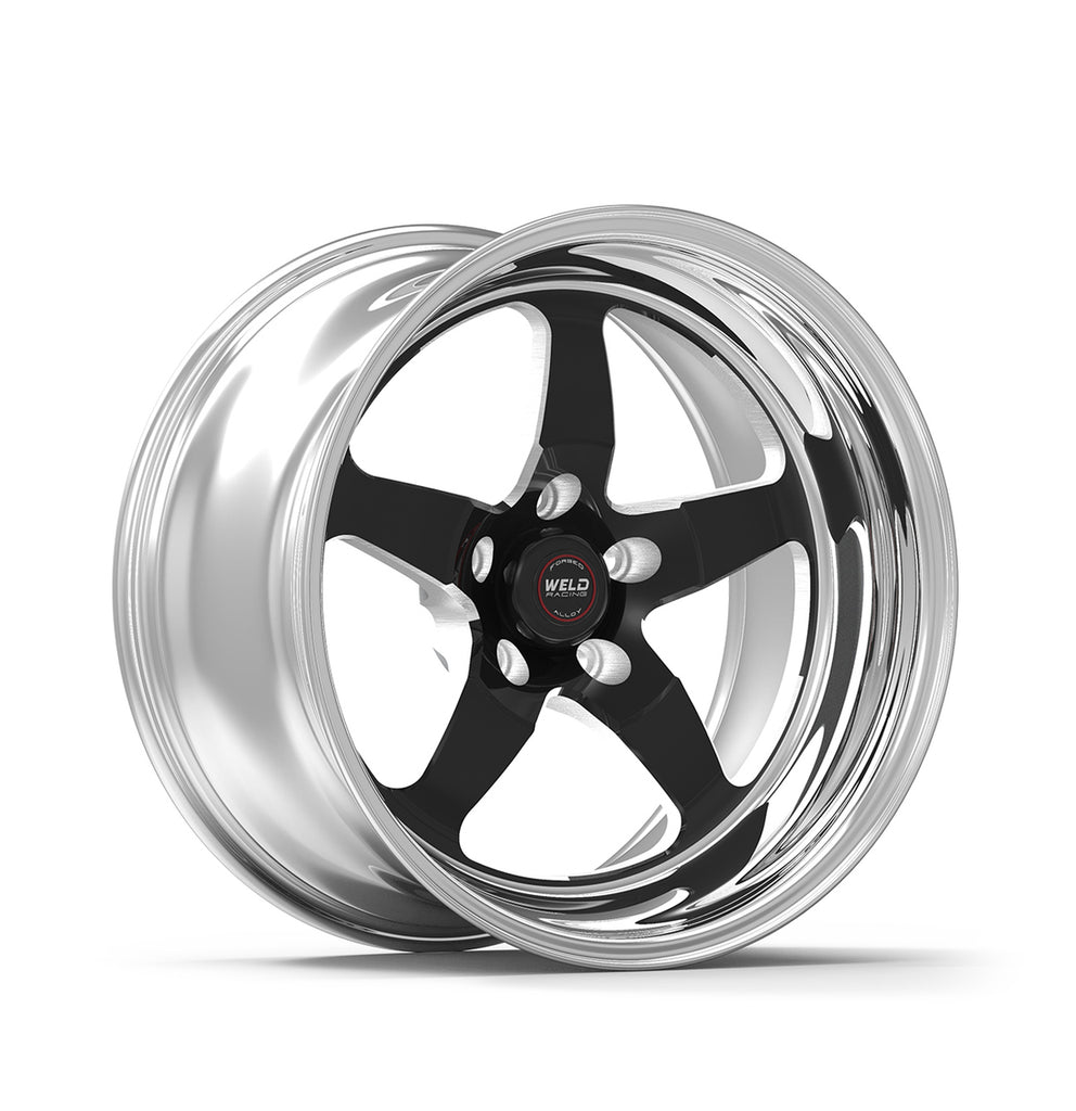 Trackhawk Weld Racing RT-S S71 17x10 / 5x5mm BP / 7.2in. BS Black Drag Wheel (High Pad) - Non-Beadlock
