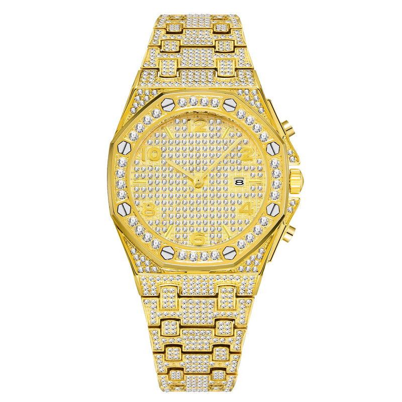 """The Royal Pendulum"" Iced Out Watch"