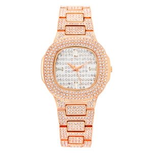 """The Luxe"" Iced Out Watch"