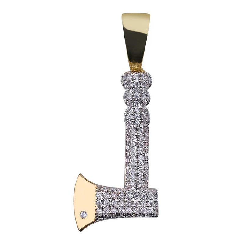 "Iced ""Battle Axe"" Pendant"