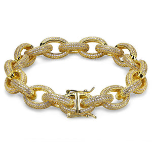 "Iced Out ""Oval Rope"" Link"