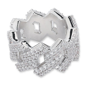 "Iced ""Diamond Prong"" Ring"