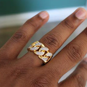 "Iced ""Classic Cuban"" Ring"