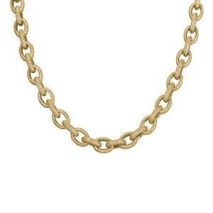 "Iced ""Oval Rope"" Chain"