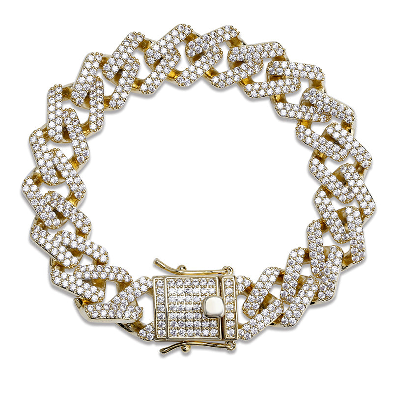 "Iced ""Diamond Prong Cuban"" Link"