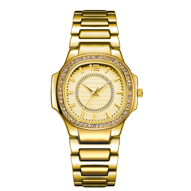 """The Classic Luxe"" Iced Out Watch"
