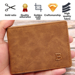 New Men Wallets Small Money Purses Wallets Thin Wallet with Coin Bag Zipper Wallet Design Dollar Price Top Men Short Vintage PU