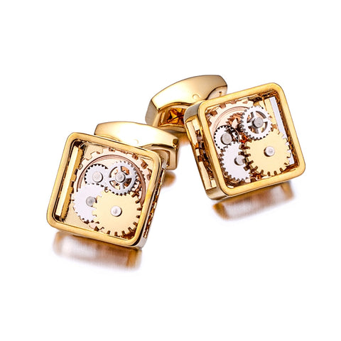 KFLK Luxury Shirt Gift Cufflinks for Mens gift Brand Wedding Cuff links Mechanical gear Button Custom male High Quality