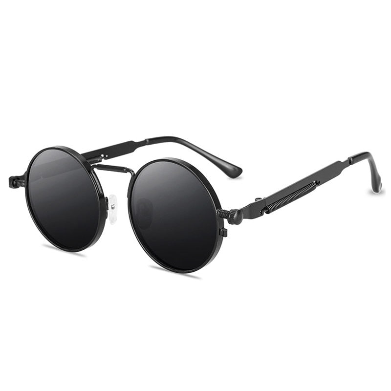 Round Steampunk Sunglasses Brand Design Men Women Metal Punk Sun glasses Vintage Sunglass UV400 Shades Eyewear Gafas de Sol