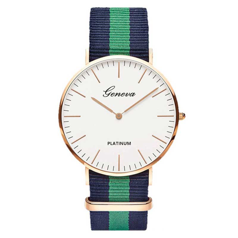 Fashion Casual Quartz Watch with Multicolor Nylon Cloth Watchband Wristwatch Simple Designer Women Men Watches Clock