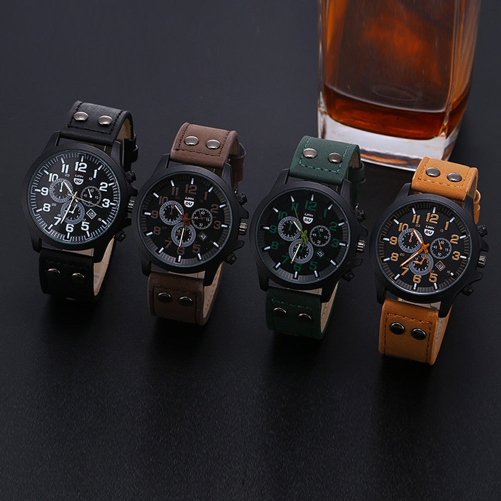 2020 Vintage Classic Watch Men Watches Stainless Steel Waterproof Date Leather Strap Sport Quartz relogio masculino reloj