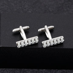 New Arrive Rectangular Geometric Stripe Creative Cufflinks High-End Successful Men's  Choice of Classic Cufflinks Free Shipping