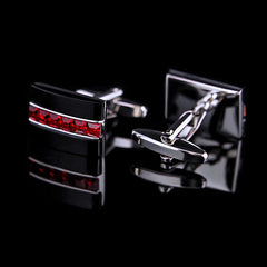 KFLK Jewelry fashion shirt cufflink for mens gift Brand cuff button Red Crystal cuff link High Quality abotoaduras guests