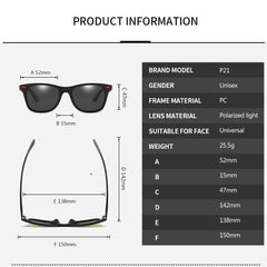 DJXFZLO Brand Design Polarized Sunglasses Men Women Driver Shades Male Vintage Sun Glasses  Men Spuare Mirror Summer UV400OculoS