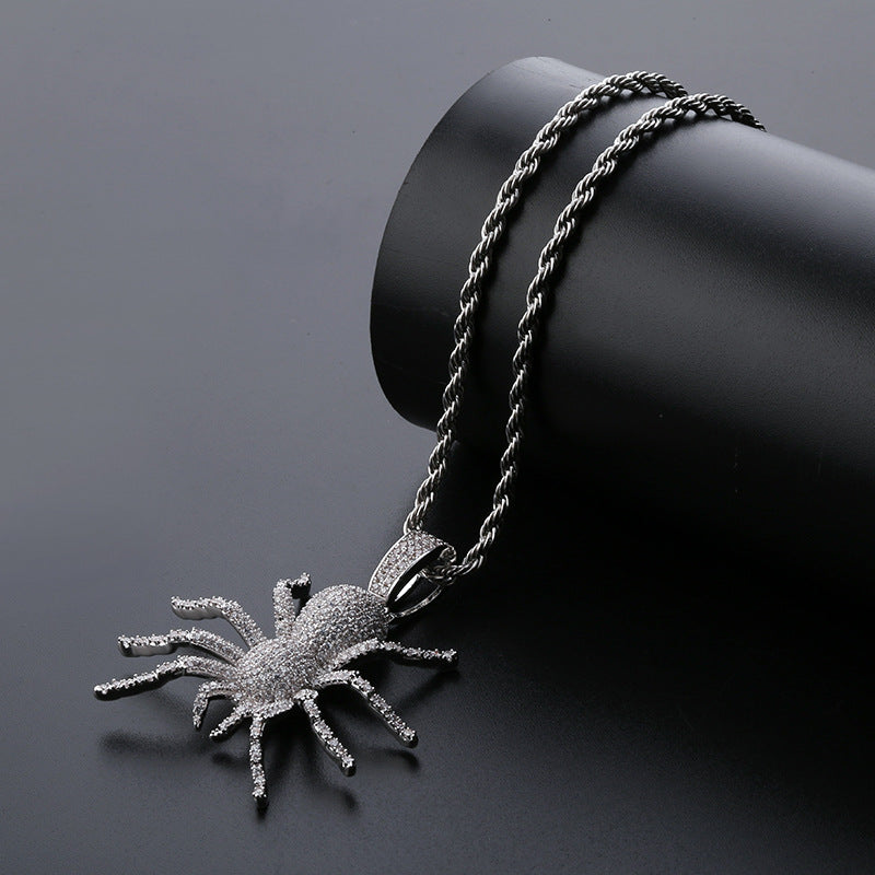 "Iced ""Spider"" Pendant"