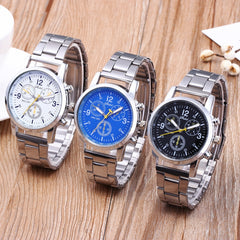 2020 Hot Sale Watch Men relogio masculino Fashion Neutral Quartz Analog Wristwatch Steel Band Watches Business reloj hombre#3