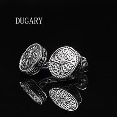 DUGARY Sparta shirt cufflink for mens designer Gold Cuff link Button male High Quality Luxury Wedding Free Shipping