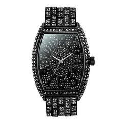 MISSFOX Design Watch Men 2020 Luxury Unique Tonneau Big Diamond Roman Numerber Men's Quartz Wristwatches Waterproof Clock Gift