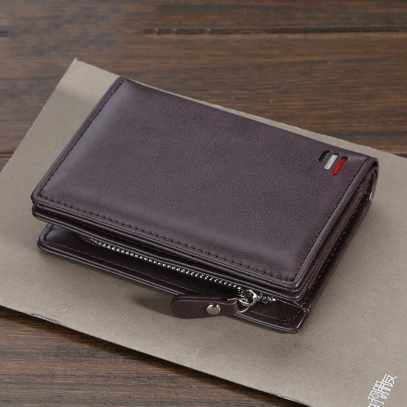 short Men wallets fashion new card purse Multifunction organ leather wallet for male zipper wallet with coin pocket