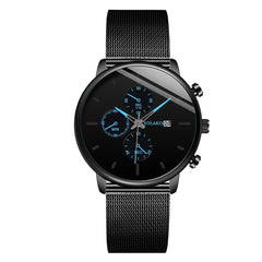 GEMIXI 2019 New Fashion Design And New Men Quartz Stainless Steel Band Calendar Analog Wrist Watch Dropshipping Reloj masculino