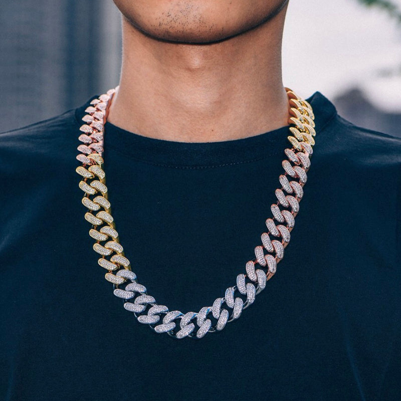 "Iced ""Froot Loop Cuban"" Chain"