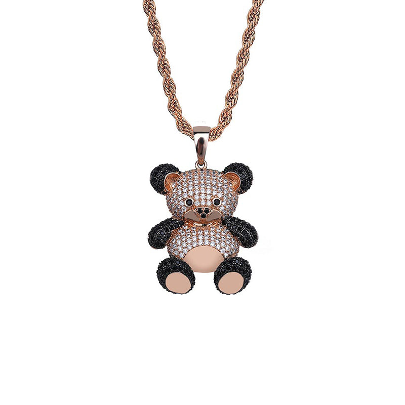 "Iced ""Bear"" Pendant"