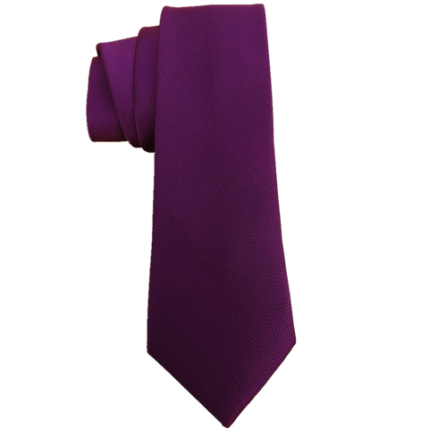 Handmade Dark Purple 6cm Skinny Ties Microfiber Necktie for Men