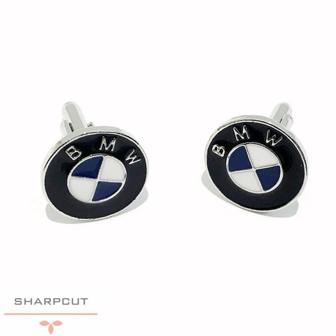 BMW Car Logo Unique Cufflinks incl Gift Pouch Quality Fashion Cufflink