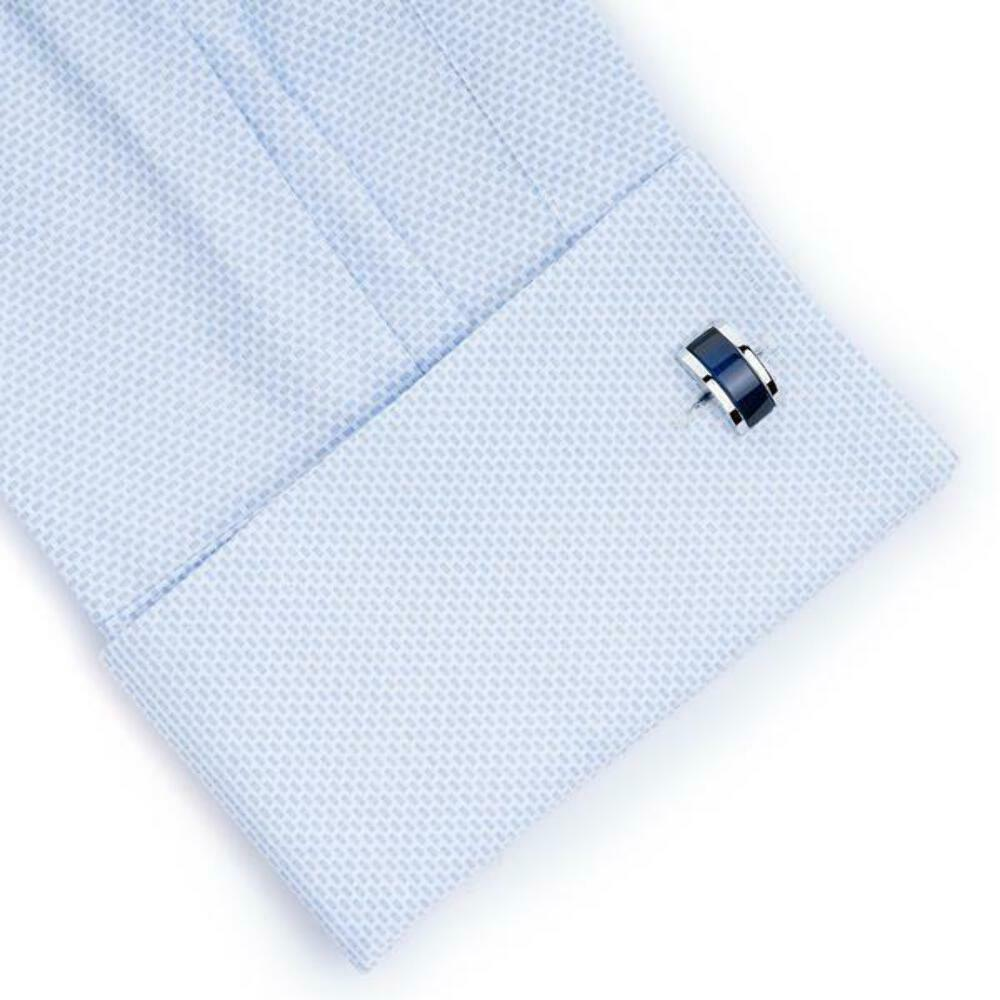 Midnight Blue Cateye Cufflinks