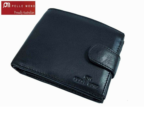 Mens Genuine Leather Clutch Gents Slim Bifold Zip Flip Card Holder Coin Wallet 0