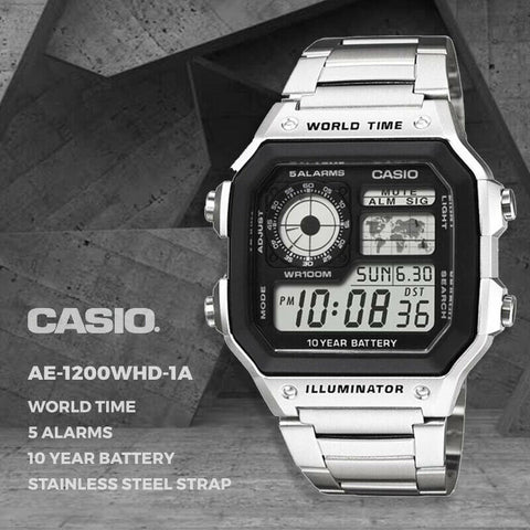Casio Genuine AE-1200WHD-1A Digital Quartz Men's Watch Sport FREE AU SHIPPING
