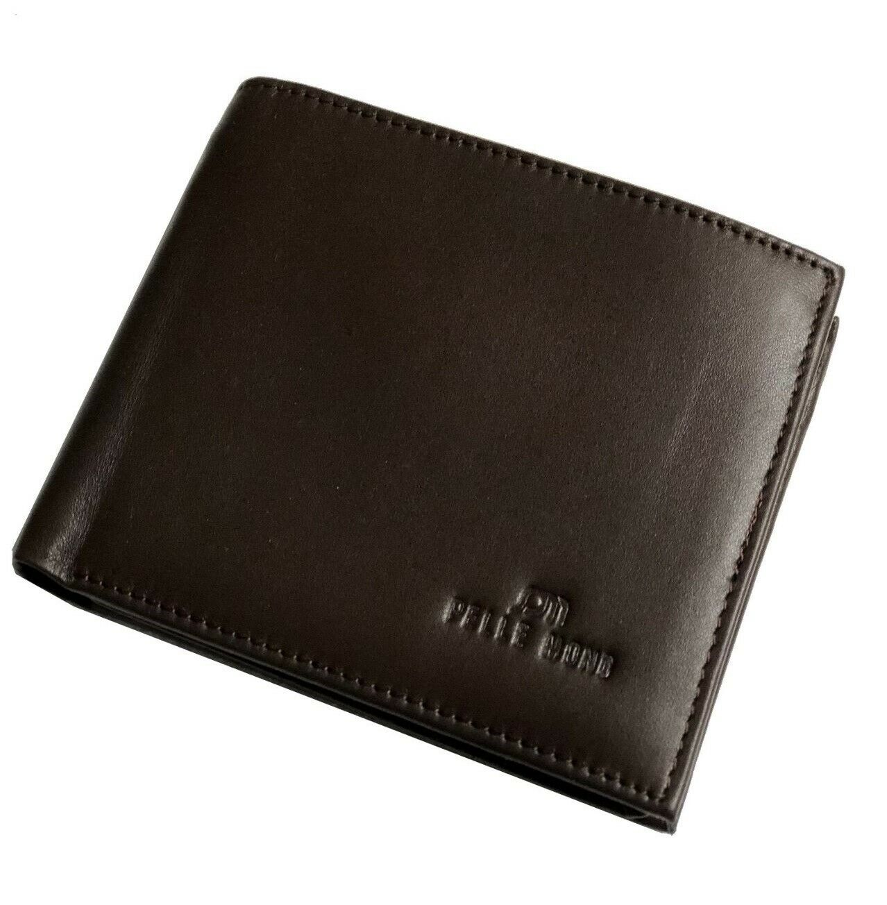 New Mens Genuine Leather Clutch Gents Slim Bifold Flip Card Holder Coin Wallet 1