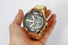 MENS DRESS WATCH Gold Silver Fashion Military Water Resistant Quartz Analog 93