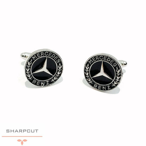 Mercedes Benz Car Logo Unique Cufflinks incl Gift Pouch Quality Fashion Cufflink