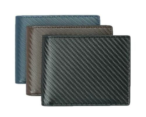 Carbon Fiber Wallet RFID BIFOLD LEATHER SLIM TEN CARD SLOTS PLUS ID