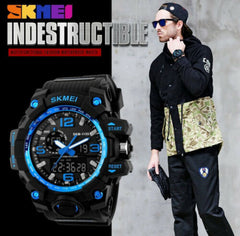 1515 MENS WATERPROOF SKMEI DIGITAL SPORTS WATCH Gold Military Water Resistant 55