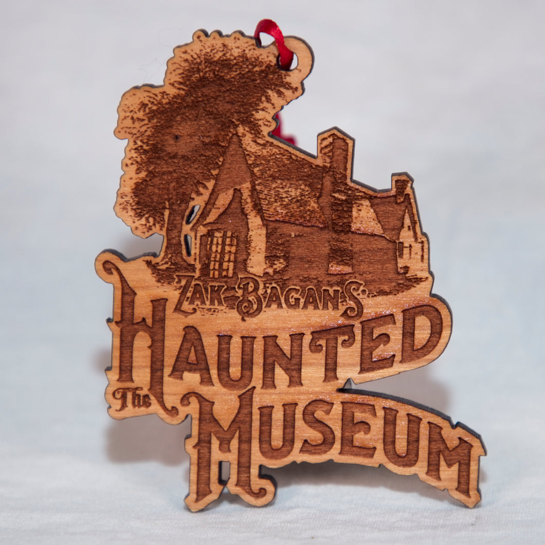 Haunted Museum Wooden Ornament
